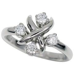 Tiffany & Co. 0.2 Carat Diamond Platinum Schlumberger Lynn Ring