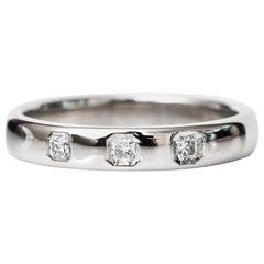 Tiffany & Co. 0.25 Carat Total Lucida Diamond Platinum Ring Band