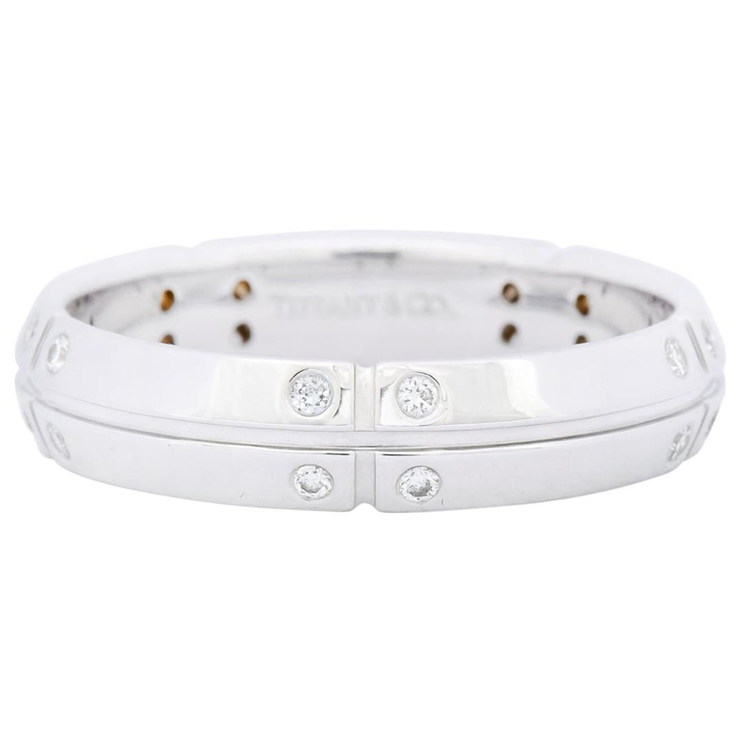 Tiffany & Co. 0.30 Carat Diamond 18 Karat White Gold Streamerica Band Ring