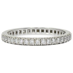 Tiffany & Co. 0.40 Carat Diamond Platinum Eternity Band Ring
