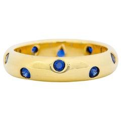 Tiffany & Co. 0.40 Carat Sapphire 18 Karat Gold Etoile Band Ring