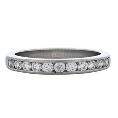 Tiffany & Co. 0.44 Carat Round Diamond Channel Set Wedding Band in Platinum