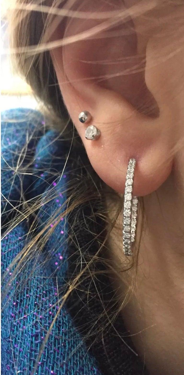 Tiffany & Co. 0,50 CTW Diamant Belgien Metro In & Out Creolen in 18K 5