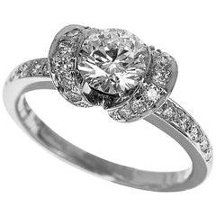 4035c50fe8807 Elegant Platinum and Diamond Bow Ribbon Ring by Tiffany and Co at ...