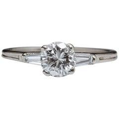 Tiffany & Co. 0.78 Carat Total Diamond Engagement Ring, Platinum