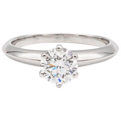 Tiffany & Co. 0.83 Carat Center E VS1 Round Solitaire Ring 'Ret:10,000'