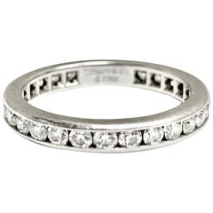 Tiffany & Co. 1.00 Carat Total Weight Channel Diamond Wedding Band in Platinum