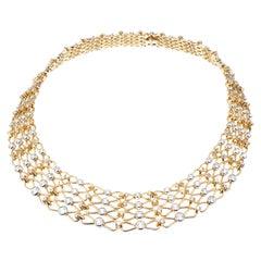 Tiffany & Co. 10.2 Carat Diamond Platinum Yellow Gold Collar Necklace