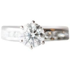 Tiffany & Co. 1.02 Carat Round Brilliant Diamond and Platinum Engagement Ring