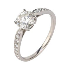 Tiffany & Co. 1.03 Carat Diamond Platinum Solitaire Engagement Ring