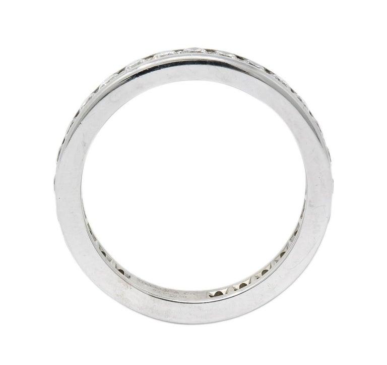 Round Cut Tiffany & Co. 1.05 Carat Round Brilliant Cut Diamond Platinum Eternity Band Ring For Sale