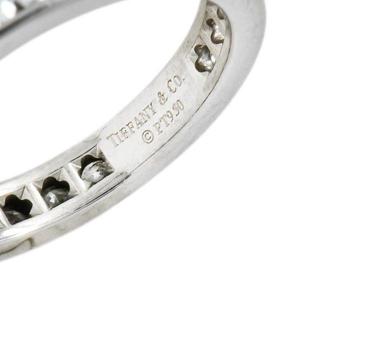 Tiffany & Co. 1.05 Carat Round Brilliant Cut Diamond Platinum Eternity Band Ring For Sale 1