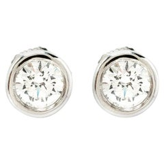 Tiffany & Co. 1.08 ct Diamonds By The Yard Platinum Earrings