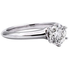 Tiffany & Co. 1.09 Carat Center I VS1 Round Solitaire Engagement Ring