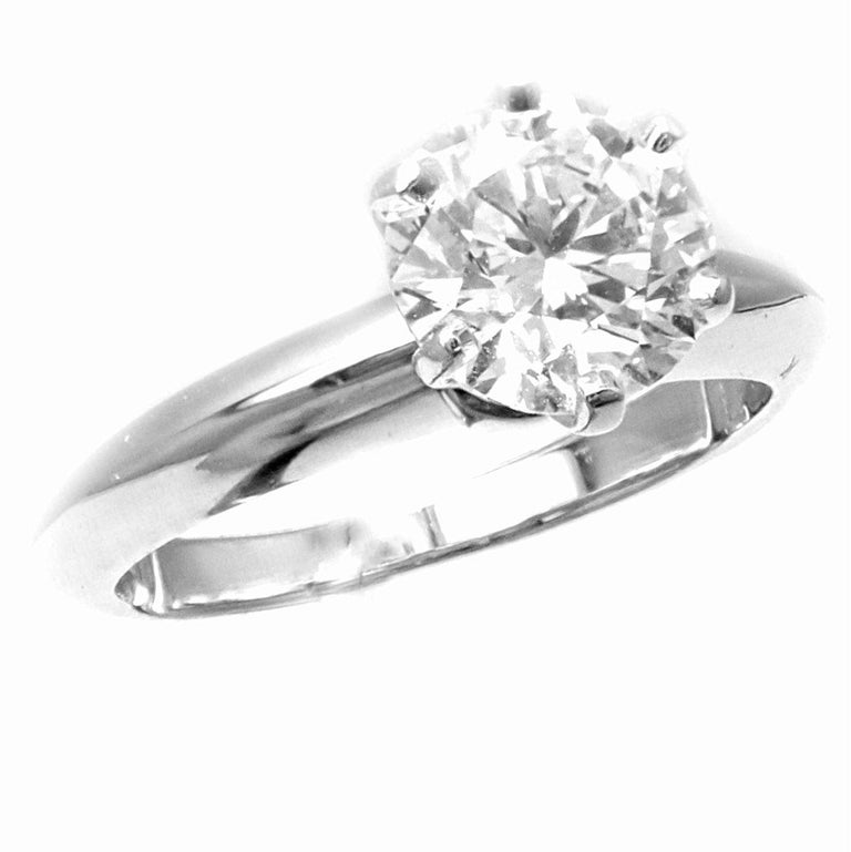 7afd4f80cd474 Tiffany & Co 1.13 Carat Diamond VS1 H Color Platinum Engagement Ring