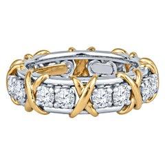 Tiffany & Co 1.14ctw Tiffany & Co. Schlumberger Sixteen Stone Round Diamond Ring