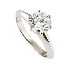 Tiffany & Co. 1.16 Carat Diamond Solitaire Engagement Ring