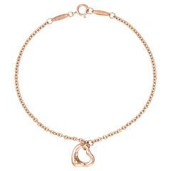 Tiffany & Co. Open Heart Bracelet 18k Rose Gold Estate Fine Jewelry Peretti