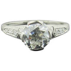 Tiffany & Co. 1.20 Carat Vintage Transitional Cut Diamond Ring in Platinum