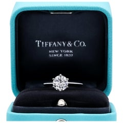 Tiffany & Co. 1.22 Carat Center I VS2 Round Brilliant Solitaire Engagement Ring