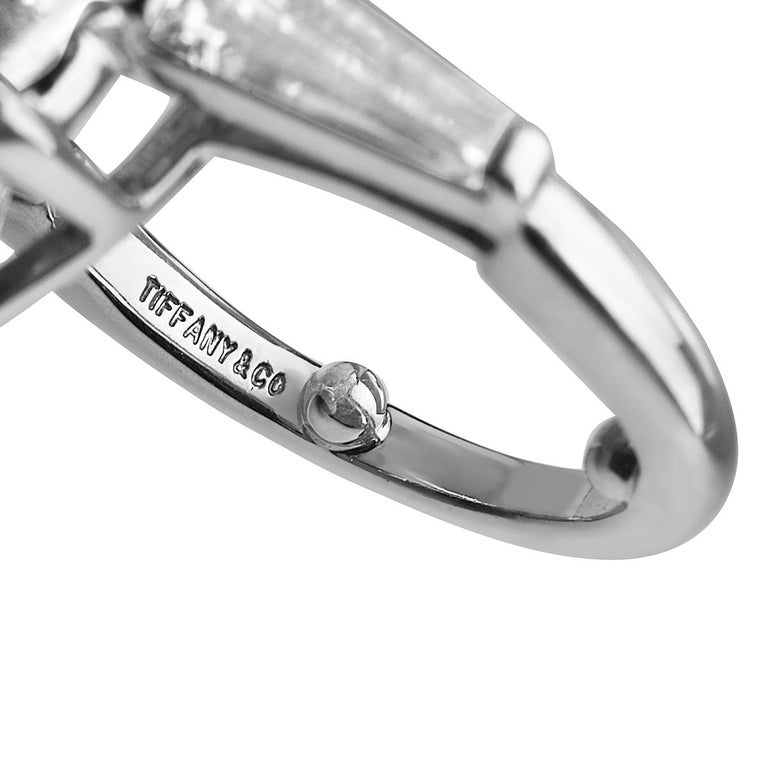 Pear Cut Tiffany & Co. 12.20 F VVS1 GIA Pear Shape Engagement Ring with Band For Sale