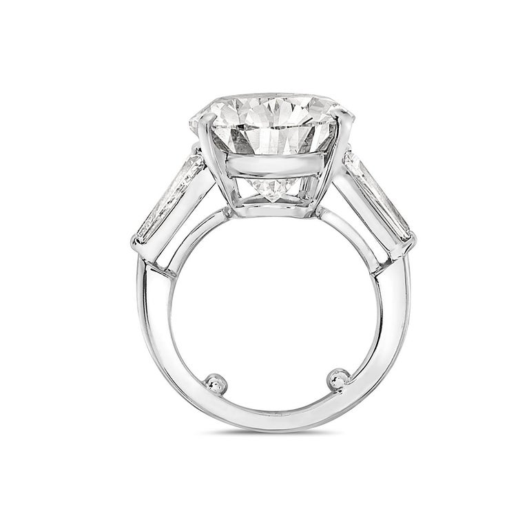 Women's Tiffany & Co. 12.20 F VVS1 GIA Pear Shape Engagement Ring with Band For Sale