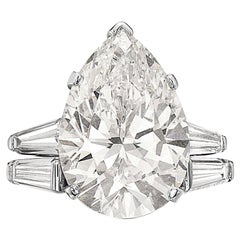 Tiffany & Co. 12.20 F VVS1 GIA Pear Shape Engagement Ring with Band
