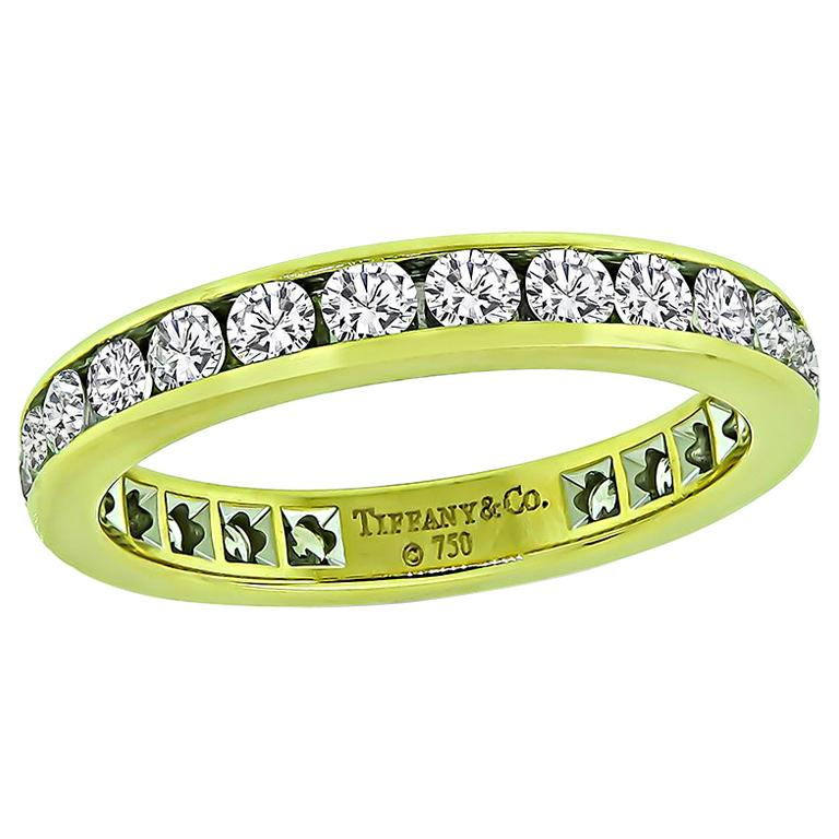 Tiffany & Co 1.25 Carat Diamond Eternity Wedding Band For Sale