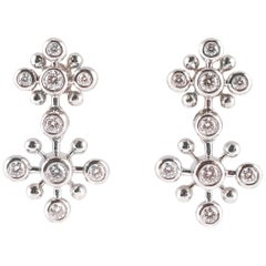 Tiffany & Co. 1.25 Carat Diamond Snowflake Earrings in Platinum