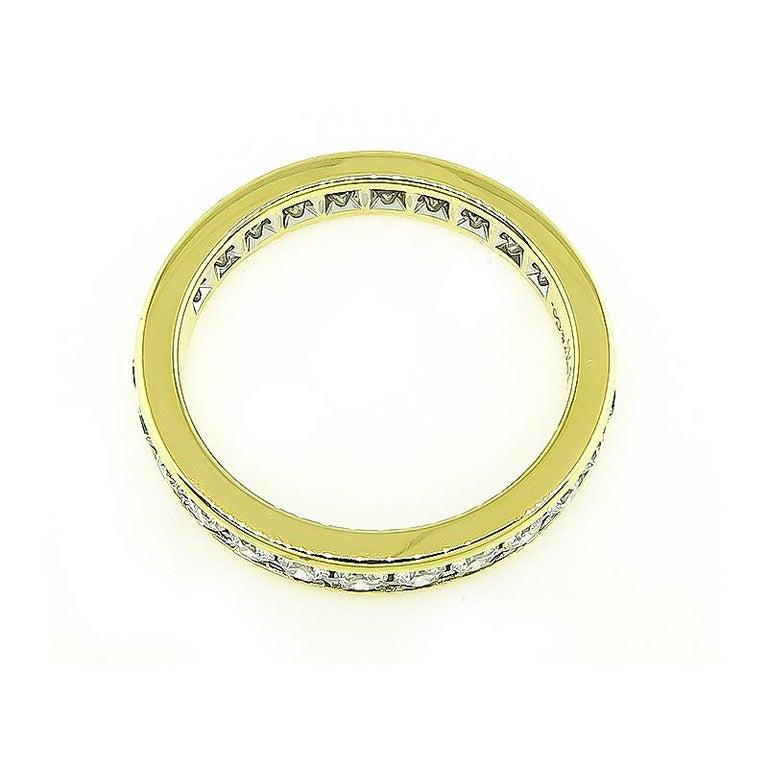Round Cut Tiffany & Co 1.25 Carat Diamond Eternity Wedding Band For Sale