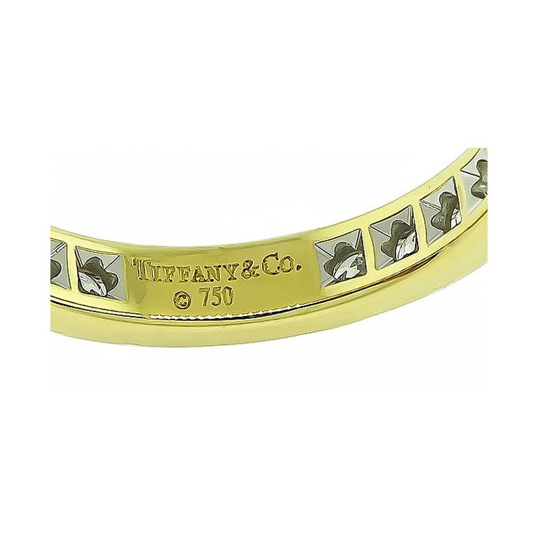 Tiffany & Co 1.25 Carat Diamond Eternity Wedding Band In Good Condition For Sale In New York, NY