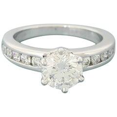 Tiffany & Co. 1.33 Carat Round Brilliant Cut Diamond Ring Platinum