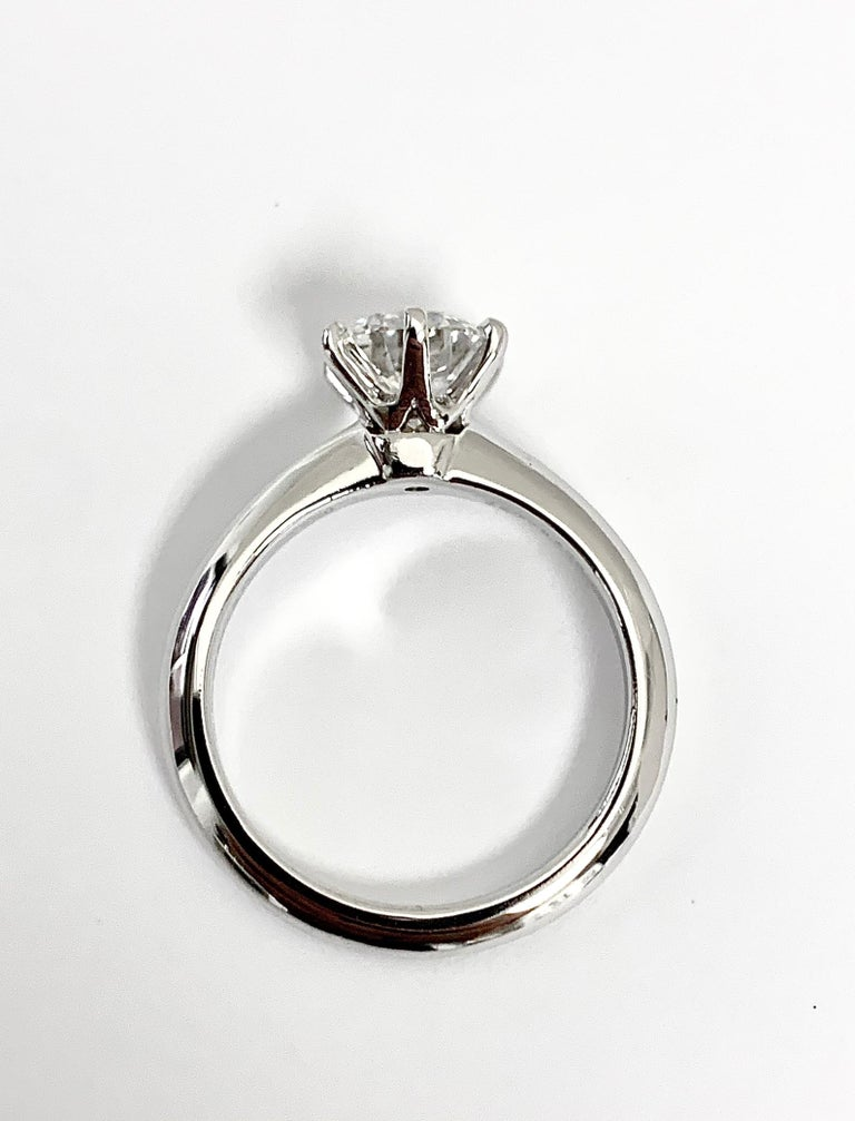 Tiffany & Co. 1.39 Ct G, IF Internally Flawless 3x Excellent Engagement Ring In Excellent Condition For Sale In New York, NY