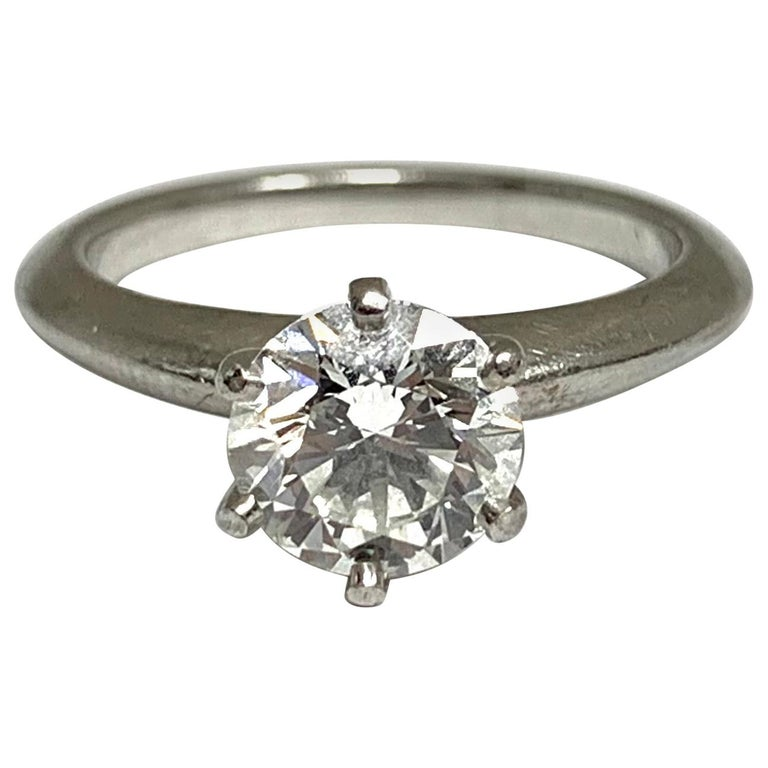 """Tiffany & Co. 1.39 Ct Center G, IF 'Internally Flawless' """"Triple Excellent"""" Ring"""