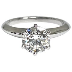 Tiffany & Co. 1.39 Ct G, IF Internally Flawless 3x Excellent Engagement Ring
