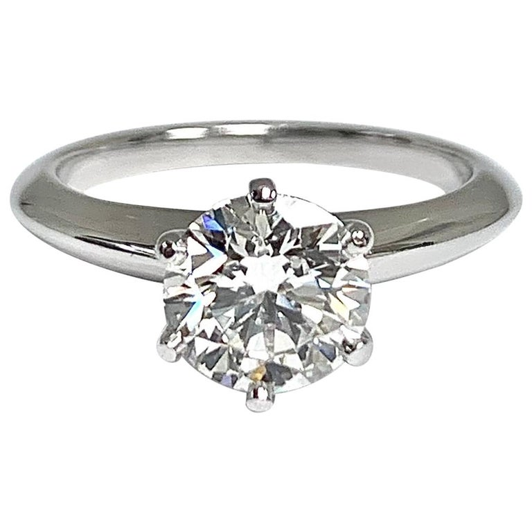 Tiffany & Co. 1.39 Ct G, IF Internally Flawless 3x Excellent Engagement Ring For Sale