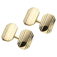 Tiffany & Co. 14 Carat Gold Cufflinks, circa 1975