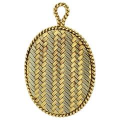 Tiffany & Co. 14 Karat Gold Mirror and Pendant, USA, circa 1940s
