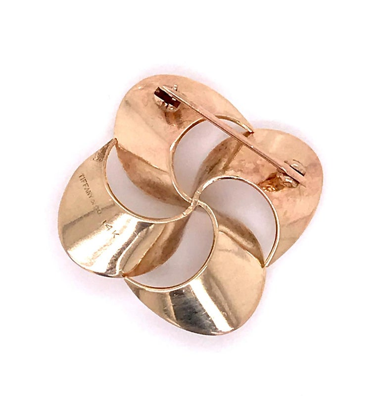 Tiffany & Co. 14 Karat Gold Modern Pin-Wheel Brooch or Pin For Sale 6