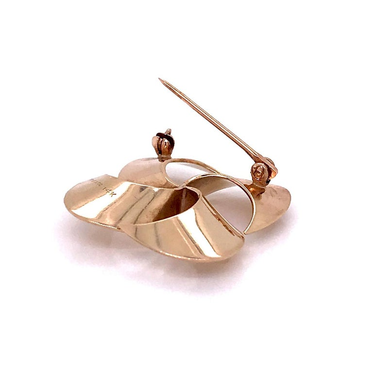 Tiffany & Co. 14 Karat Gold Modern Pin-Wheel Brooch or Pin For Sale 8
