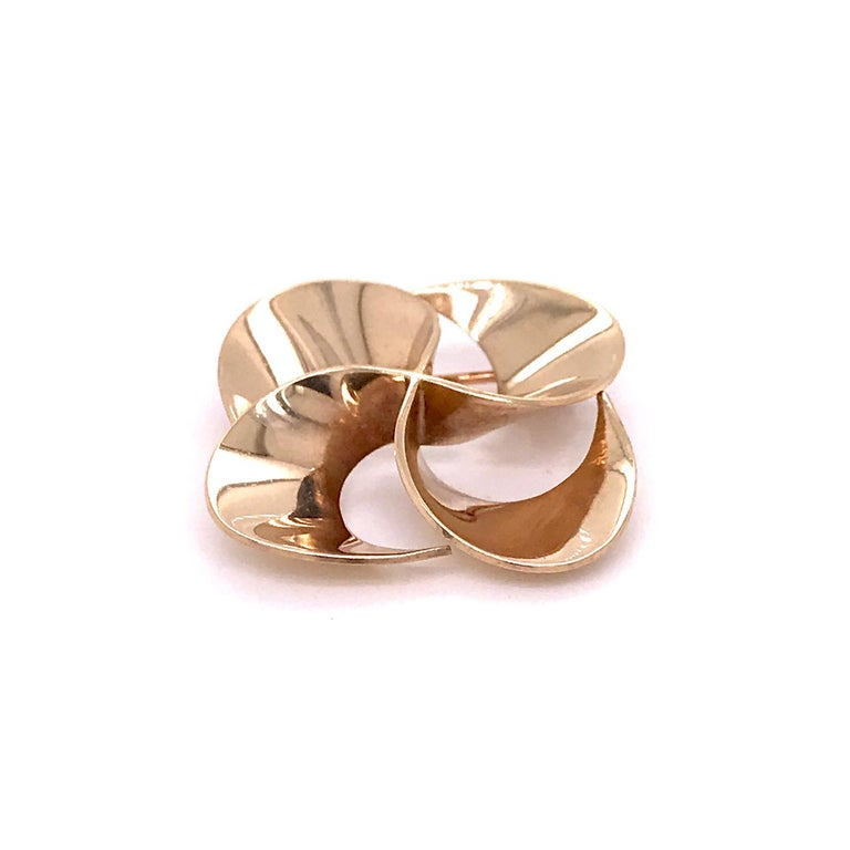 Women's Tiffany & Co. 14 Karat Gold Modern Pin-Wheel Brooch or Pin For Sale