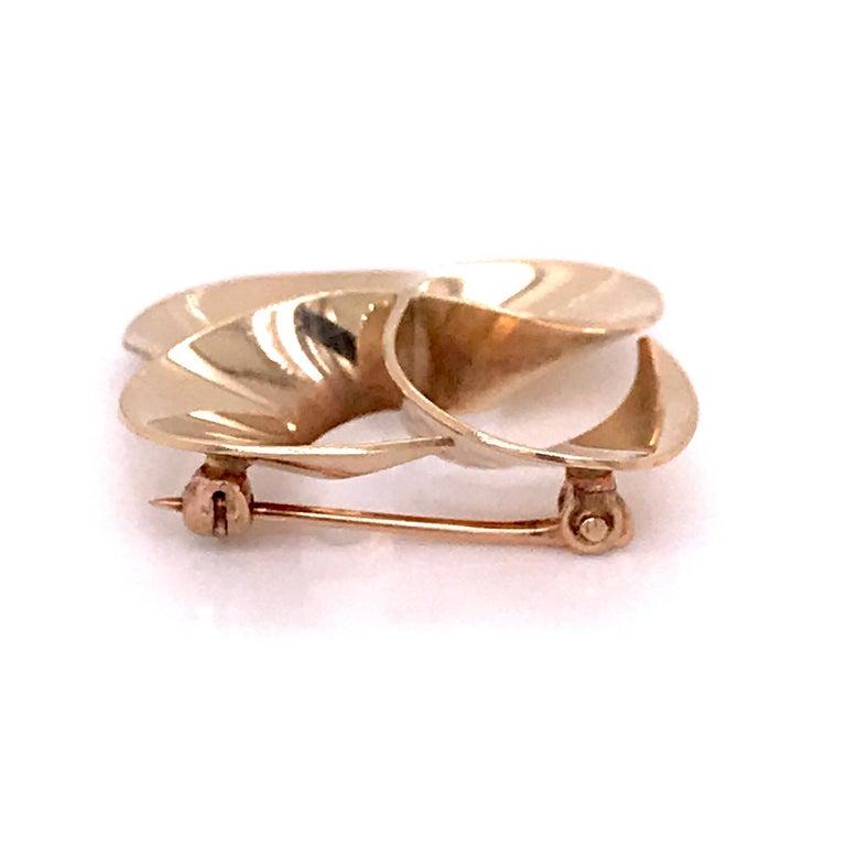 Tiffany & Co. 14 Karat Gold Modern Pin-Wheel Brooch or Pin For Sale 2