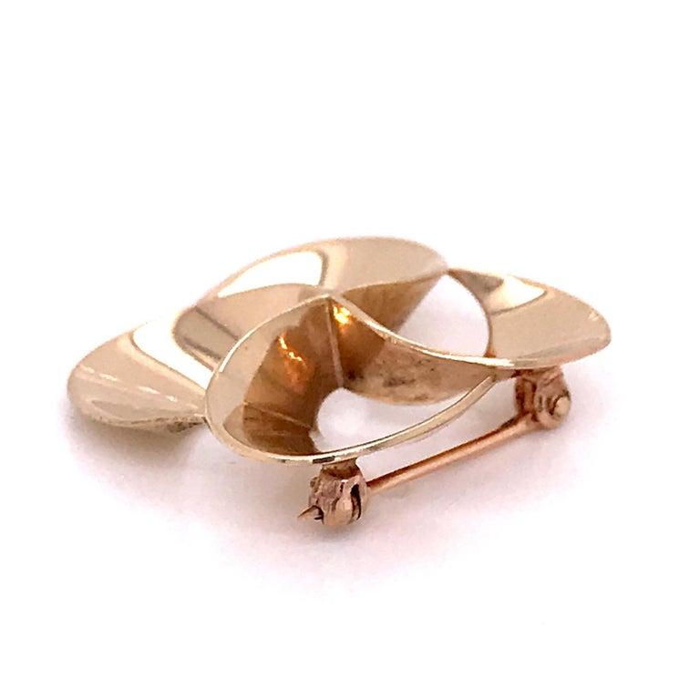Tiffany & Co. 14 Karat Gold Modern Pin-Wheel Brooch or Pin For Sale 3