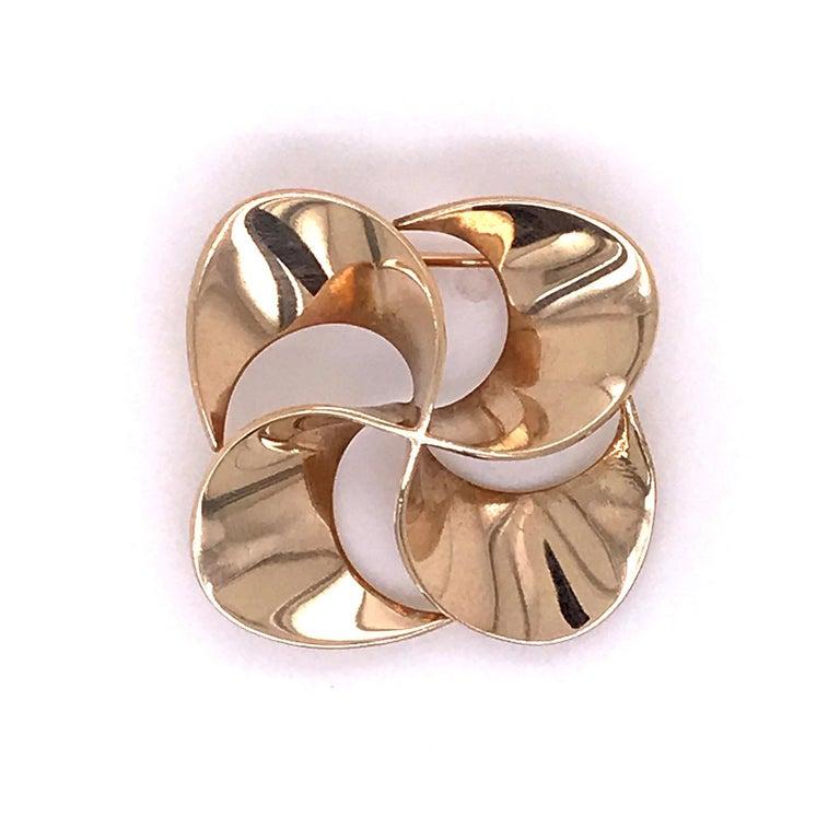 Tiffany & Co. 14 Karat Gold Modern Pin-Wheel Brooch or Pin For Sale 4