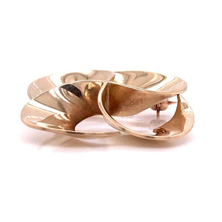 Tiffany & Co. 14 Karat Gold Modern Pin-Wheel Brooch or Pin For Sale 5