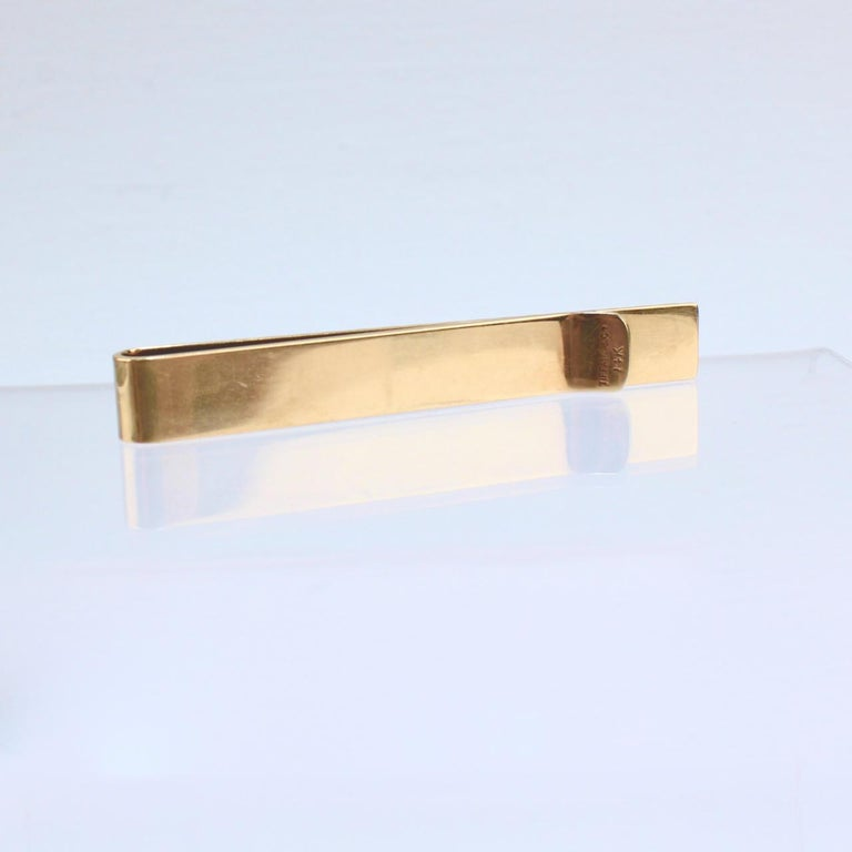 Tiffany & Co. 14 Karat Gold Modern Tie Clip or Tie Bar For Sale 6