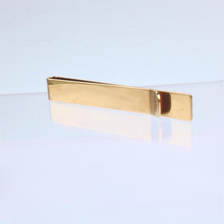Tiffany & Co. 14 Karat Gold Modern Tie Clip or Tie Bar For Sale 7