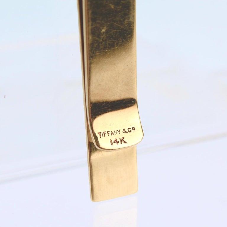 Tiffany & Co. 14 Karat Gold Modern Tie Clip or Tie Bar For Sale 11