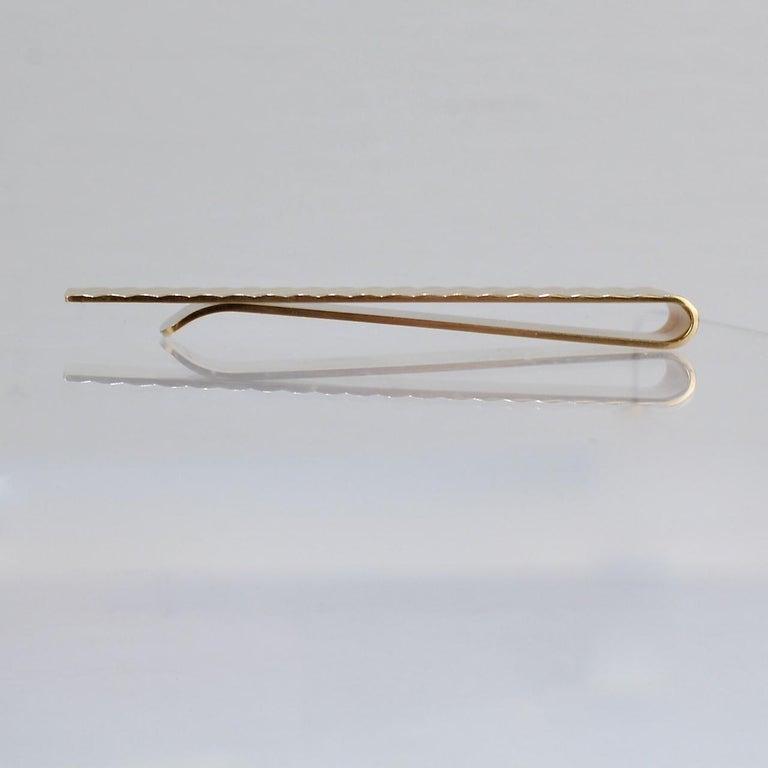 Tiffany & Co. 14 Karat Gold Modern Tie Clip or Tie Bar For Sale 2