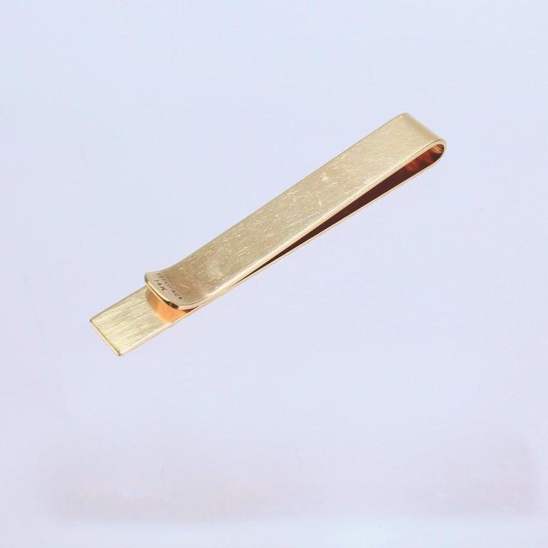 Tiffany & Co. 14 Karat Gold Modern Tie Clip or Tie Bar For Sale 4